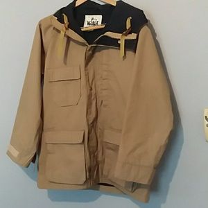 WOOLRICH FALL JACKET/TAN AND NAVY/MED